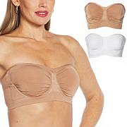 """""""As Is"""" Rhonda Shear 2-pack Anti-Microbial Seamless Underwire Bande..."""