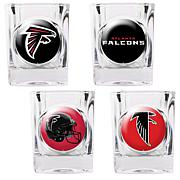 Atlanta Falcons 4pc Collector's Shot Glass Set