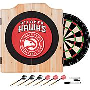 Atlanta Hawks NBA Wood Dart Cabinet Set