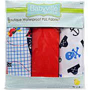 "Babyville PUL Waterproof Diaper Fabric 21"" x 24"" 3-pack"
