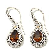 Bali Designs 3.4ctw  Cognac Quartz Earrings