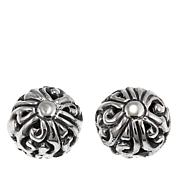 Bali Designs by Robert Manse Scrollwork Bead Stud Earrings