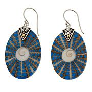 Bali Designs Shell and Resin Drop Earrings