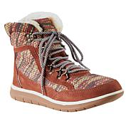 BEARPAW® Ruby Suede Nylon Laced Boot with NeverWet™