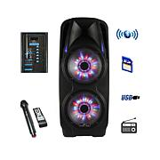 """beFree Sound 2 x 10"""" Woofer Portable   PA Party Speaker"""