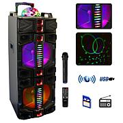 beFree Sound Dual 12 Inch Subwoofer Portable Bluetooth Party Speake...