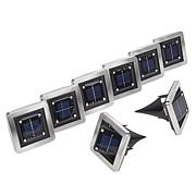 Bell + Howell 8-pack Square Solar Swivel Deluxe Disk Lights