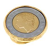 Bellezza 500 Lira Coin Bronze Hammered Ring