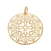 Bellezza Bronze Filigree Round Pendant