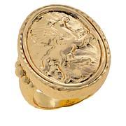 Bellezza Bronze Hammered Pegasus Ring