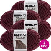Bernat Blanket Big Ball Yarn 4-pack - Purple Plum