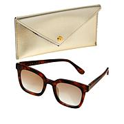 Bethenny Medium Square Sunglasses with Case and Cleaning Cloth