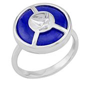 BlesT Sterling Silver Lapis Disc Dove Ring
