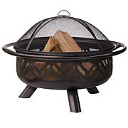 Blue Rhino Uniflame Oil Rubbed Outdoor Firebowl with Geometric Design