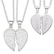 """""""Breakable"""" Mom and Daughter Engraveable Pendant"""