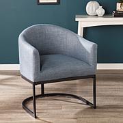 Brenton Upholstered Barrel Chair - Navy