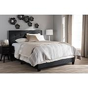Brookfield Charcoal Grey Fabric Bed
