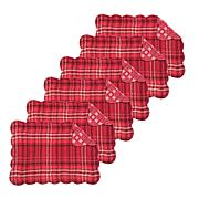 C&F Home Andrew Cotton Quilted Reversible Oblong Red Placemat Set of 6