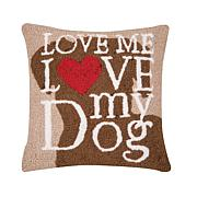 C&F Home Dog Love Hooked Pillow