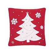 C&F Home Red & White Tree Pillow