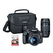 Canon EOS Rebel T7 DSLR Camera w/18-55mm & 75-300mm Lenses & Voucher