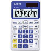 Casio Solar Wallet Calculator with 8-Digit Display Blue