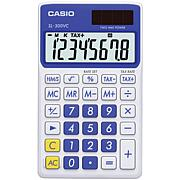 Casio Solar Wallet Calculator with 8-Digit Display Blue
