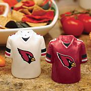 Ceramic Salt and Pepper Shakers - Arizona Cardinals