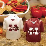 Ceramic Salt and Pepper Shakers - Mississippi State