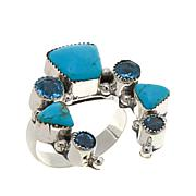 """Chaco Canyon Multigem """"Naja"""" Sterling Silver Ring"""