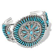 "Chaco Canyon Sleeping Beauty Turquoise ""Star"" Cuff"
