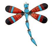 Chaco Canyon Zuni Multi-Gemstone Dragonfly Pin/Pendant