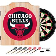 Chicago Bulls NBA Wood Dart Cabinet Set