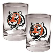 Cincinnati Bengals 2pc Rocks Glass Set