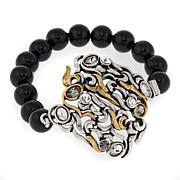"CLB NYC ""Wind"" Crystal-Accented Beaded Bracelet"