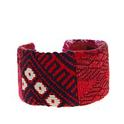 Clever Carriage Company Global Artisan Tapestry Cuff Bracelet