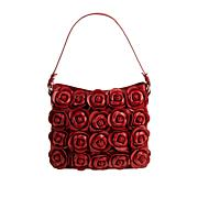 Clever Carriage Handcrafted Leather Rose Bouquet Hobo Bag
