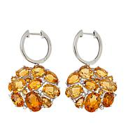 Colleen Lopez 10.12ctw Multi Citrine Sterling Silver Drop Earrings
