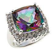 Colleen Lopez 11.09ctw Rainbow Quartz and White Topaz Ring