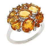 Colleen Lopez 4.29ctw Multi Citrine Sterling Silver Ring