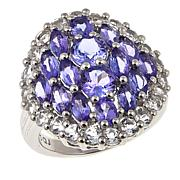 Colleen Lopez 4.47ctw Tanzanite and White Topaz Sterling Silver Ring