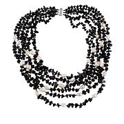 Colleen Lopez Black Agate and Cultured Pearl Multi-Strand Necklace