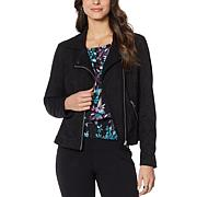 """Colleen Lopez """"Mini and Me"""" Faux Suede Moto Jacket"""