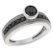 Colleen Lopez Sterling Silver 1ctw Black Diamond Ring