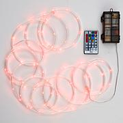 Color-Changing 100-LED Rope Light with Remote