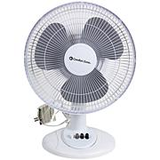 Comfort Zone(R) CZ121BW 12  Oscillating Table Fan