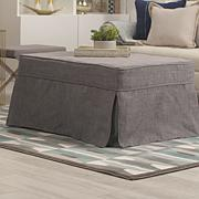 Concierge Collection Convertible Twin Ottoman - Gray