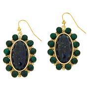 Connie Craig Carroll Jewelry Elena Azure Malachite Drop Earrings