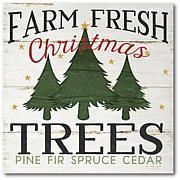 Courtside Market Farm Fresh Christmas Trees Canvas Wall Art
