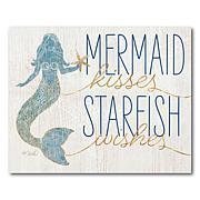 Courtside Market Mermaid Kisses Starfish Wishes 16x20 Canvas Wall Art
